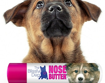 Mixed Breed NOSE BUTTER® All Natural, Individually Handcrafted Balm for Dry Dog Noses Choice: One .15 oz Tube or 3-Pack of .15 oz. Tubes