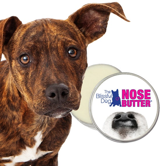 The ORIGINAL Dog NOSE BUTTER® Individually Handcrafted Hydrating Salve for Rough, Dry or Crusty Dog Noses 2 oz Tin With Just A Nose Label