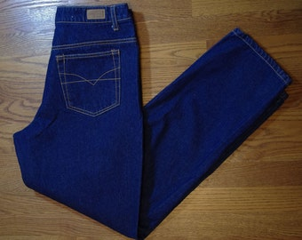 Vintage 1980s Dark Blue HB high waisted Jeans, size 8