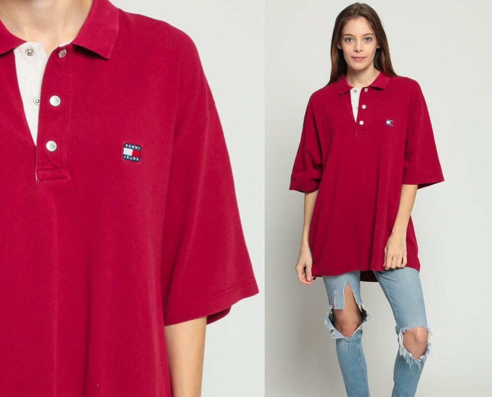tommy hilfiger shirt polo shirt short sleeve 90s top half. Black Bedroom Furniture Sets. Home Design Ideas