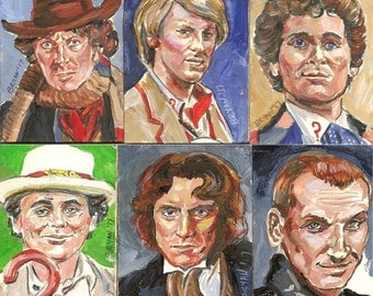 Doctor Who set of 12 artist trading cards