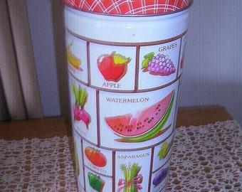 SALE- Vintage, Fruit and Vegetable Tin