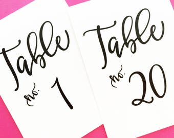 Table Numbers, Wedding Reception Table Cards, Table Number Cards, Table Decor, Table Number Tents