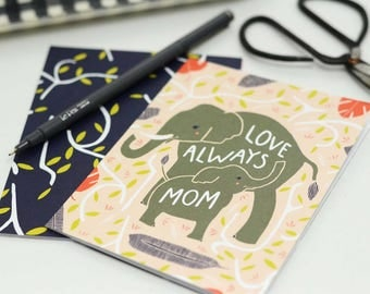 Elephant Mothers Day Card, Elephant Card For Mom. Mothers Day Gift, Blank Mom Card, Sweet Mom Card, Mothers Day Card, Happy Mother's Day