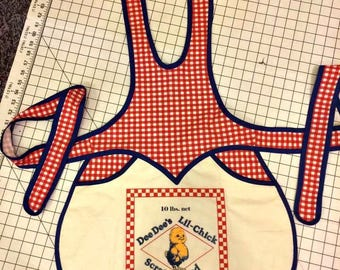 Handmade Feed Sack woman's apron
