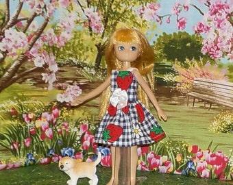 LTE-153) Lottie doll clothes, 1 pretty dress