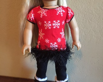 18 Inch Doll Clothes Snow flakes Sweater Outfit