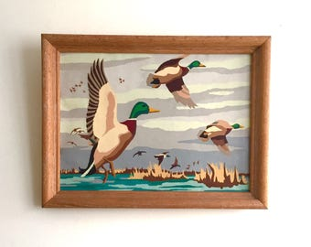 Paint by Number Duck Scene // vintage