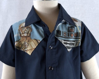 Star Wars Kids Western Shirt Size 6-12 months Recycled