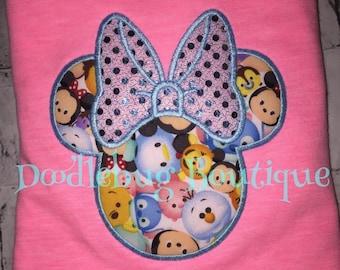 Minnie Mouse tsum tsum shirt with FREE name