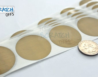 """Gold 1.5"""" Round Scratch Off Labels"""