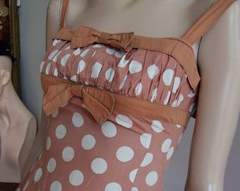 """1950's Polka Dot Sun Dress & Bolero 32"""" Bust 24"""" waist"""