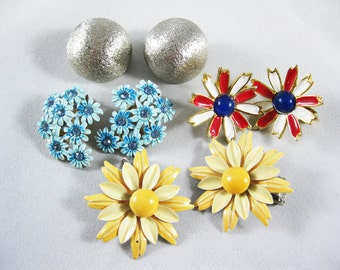 Vintage 1960's Clip on Earrings- Instant Collection