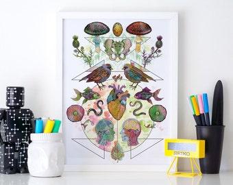 Limited Edition 'Meet My Maker #2' Fine Art Print - A3 29.7 x 42cm