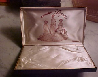 Vintage Hollywood Regency Movie Star L'ARGENE Jewelry Box GABOR Sisters &Mom Zsa Zsa,Eve Magda /Jolie