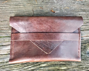 Extra Large Horween Chromexcel Leather Envelope Wallet
