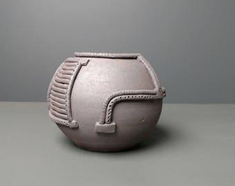 Cyberpunk Round Vase