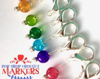Crochet Stitch Markers snag free - POP DROPS