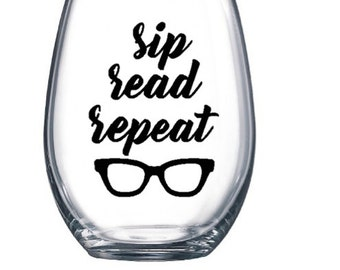Book lover wine glass perfect for book nerd
