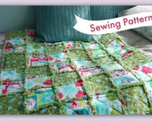 Rag Quilt Sewing Pattern, build the quilt as you go. Beginners Level.