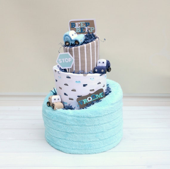 Car Baby Shower, Race Car Diaper Cake, Boy Diaper Cake, Gift for Baby Boy, Modern Baby Gift, Race Car Baby Gift, Boy Shower Cake