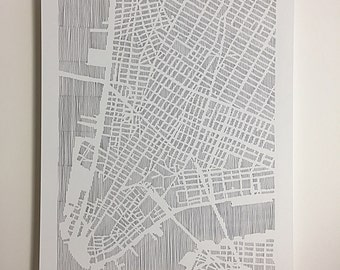 lower manhattan map, 11x14