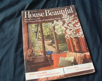 1963 House Beautiful Magazine ... For you to Repurpose ... MCM