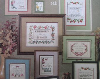 Friendship hath no Seasons/Counted Cross Stitch Patterns by Leisure Arts/1984/ Samplers/Wall Hangings