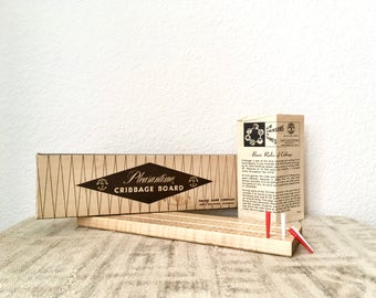 Vintage Pleasantime Cribbage Board No. 705