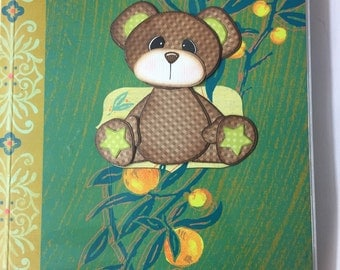 Green Tear Bear Bullet Journal Planner with Cover