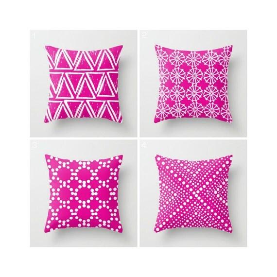 Fuchsia Throw Pillow - Modern Throw Pillow - Magenta Pink Cushion - Decorative Pillow - Pink Pillow - Throw Pillow 16 18 20 24 inch
