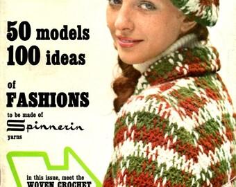 Mon Tricot Creative Crochet Handknitting Clothing Coat Hat Sweater Dress Jackets Men Women Children Craft Pattern Magazine Fall Winter 71 72