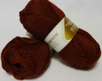 Stash Sale - Peruvian Highland Wool, Wool Yarn, Burgundy Wool Yarn, Highland Wool, Elann Peruvian Highland Wool, Sale Yarn - 2 skeins