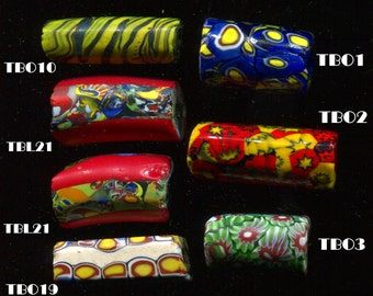 Venetian Millefiori Antique Trade Beads,  7 Designs TBL1.TBM21.TBM24.TBM44.TBO