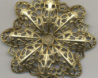 Large  Filigree Findings, Vintage American Made, 4 Styles F197.F592.F596.F1725 *