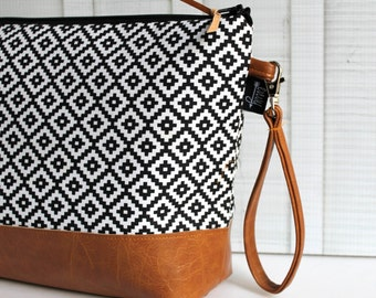 Add a Removable Vegan Wristlet Strap - For Your Diaper Clutch / Make Up Bag