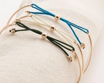 14K Gold Bow Tie Bracelet - Set of 6 Bridesmaid Custom Bangles