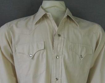 Vintage Mens H Bar C Pearl Snap Western Shirt Medium