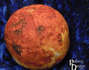 Venus Globe 3D Cross Stitch Sewing Pattern PDF
