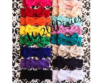 Baby Head wrap, Baby Girl Headbands, Messy Bow, Bow knot Headband,Fabric Headband, newborn headband, Turban, cotton headband, head wrap