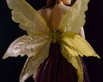 Triple gold fantasy adult fairy wings