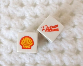 Shell Oil Playing Dice..Advertising Velvet Draw String Pouch Case