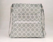 Womens Shoulder Bag / Crossbody Purse/ Fabric Purse / Womens Handbag / Gray Purse