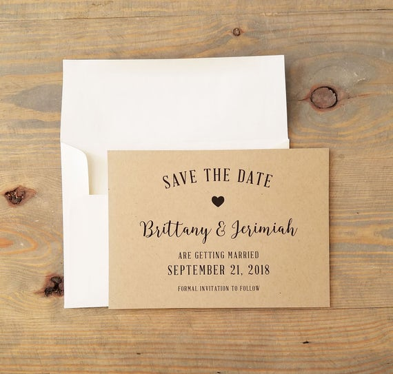 Rustic Kraft Save the Date, Rustic Save the Date, Kraft Save the Date, Simple Rustic, Vintage Wedding, Rustic Wedding