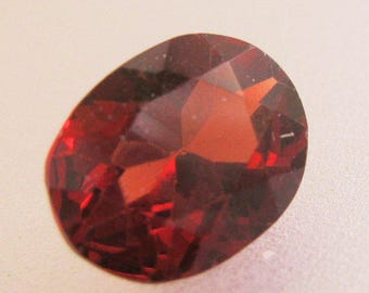Vintage Loose 3.2ct Red Garnet Oval Cut 10.8mm x 8.4mm Jewelry Supplies Jewelry Gemstone