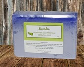 LAVENDER Essential Oil Scented Homemade Goat Milk Soap