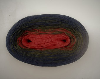 ADVENT - Color Changing Cotton yarn  480 yards/100 gr  Fingering Weight