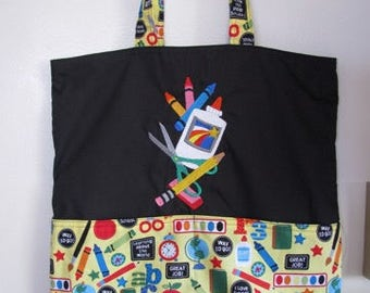 School Supplies Eco Friendly Tote Bag