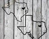 SVG, PNG Cut File, Texas Home Sweet Home, Silhouette Cut File, Cricut Cut File, Heart, State, Lone Star State