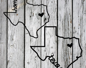 SVG, PNG Cut File, Texas Home Sweet Home, Silhouette Cut File, Cricut Cut File, Heart, State, Lone Star State